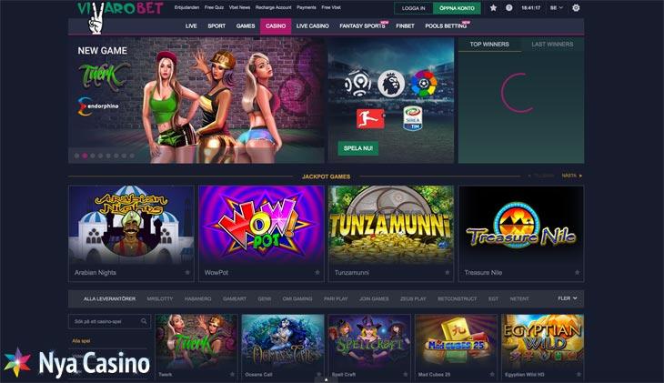 Vivarobet am - казино на сайте