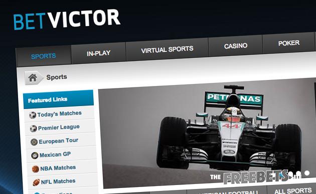 Betvictor com. Дизайн сайта