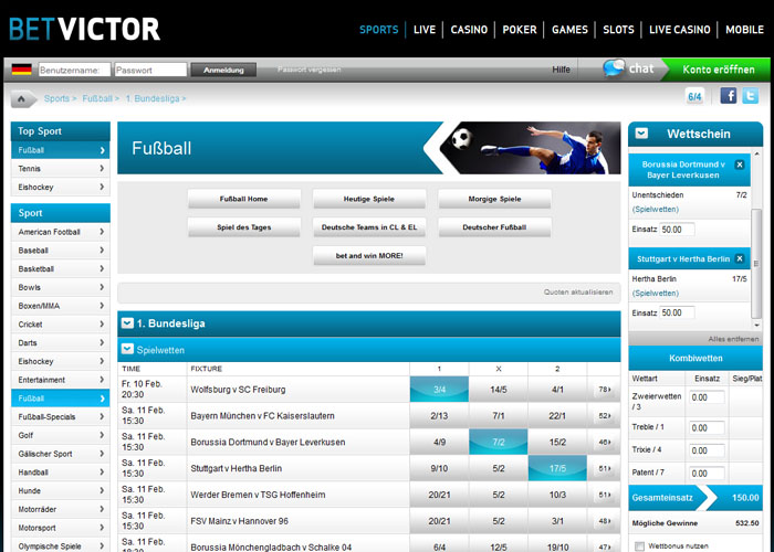 Betvictor com. Линия