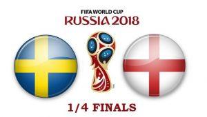 Швеция – Англия. Прогноз на матч 07 июля 2018. ¼ финала ЧМ-2018
