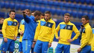 Сборная Украины дала бой сборной Италии